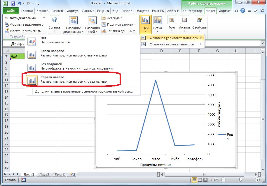 Как изменить подписи ряда в таблице Excel