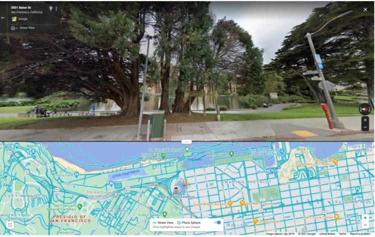 Режим разделенного экрана в Google картах