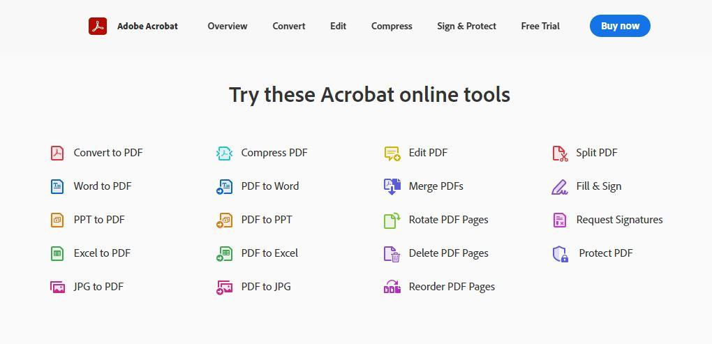 Бесплатные инструменты Adobe онлайн