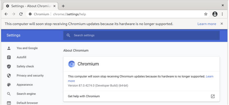 Google прекратит работу браузера Chromium