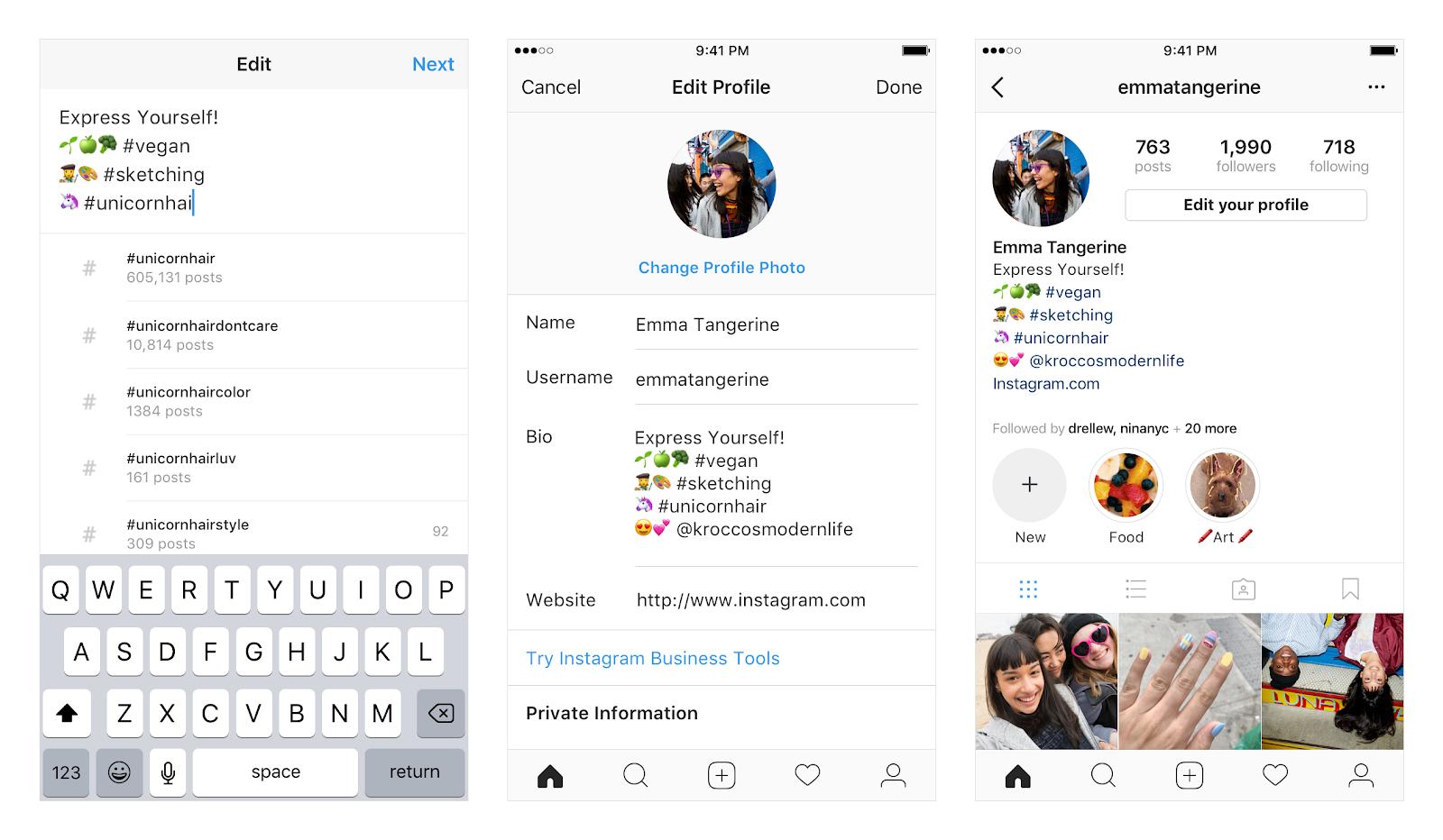 хештеги и ссылки в профиле Инстаграм