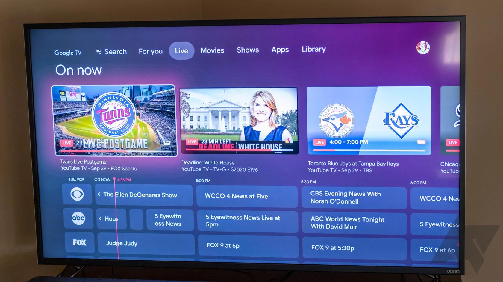 Настройка Google TV