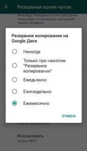 Новая функция в WhatsApp. Объём резервной памяти будет ограничен до 2ГБ